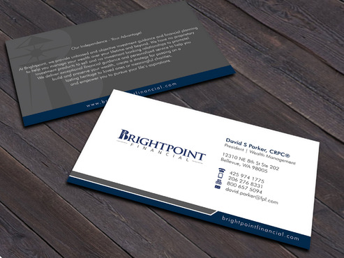 Brightpoint Financial Business Cards and Stationery  Draft # 257 by Xpert