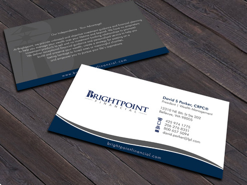 Brightpoint Financial Business Cards and Stationery  Draft # 258 by Xpert