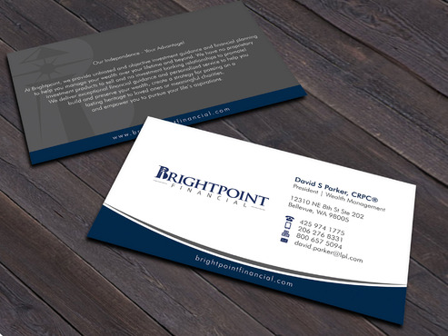 Brightpoint Financial Business Cards and Stationery  Draft # 259 by Xpert