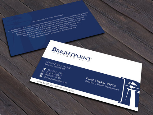 Brightpoint Financial Business Cards and Stationery  Draft # 260 by Xpert