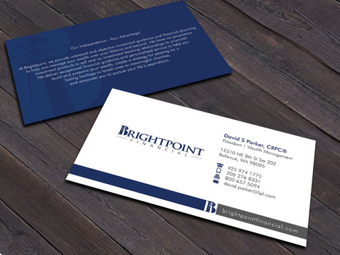 Brightpoint Financial Business Cards and Stationery  Draft # 261 by Xpert