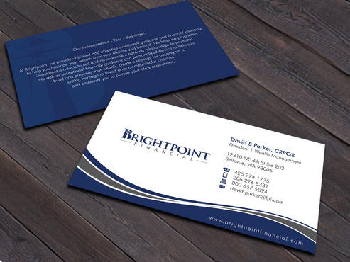Brightpoint Financial Business Cards and Stationery  Draft # 262 by Xpert
