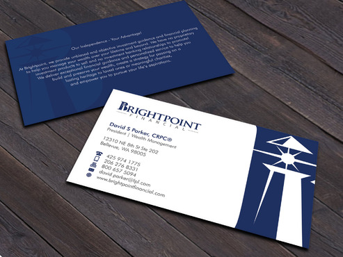 Brightpoint Financial Business Cards and Stationery  Draft # 263 by Xpert