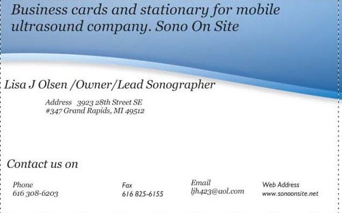 Sono On Site Business Cards and Stationery  Draft # 224 by Arshah