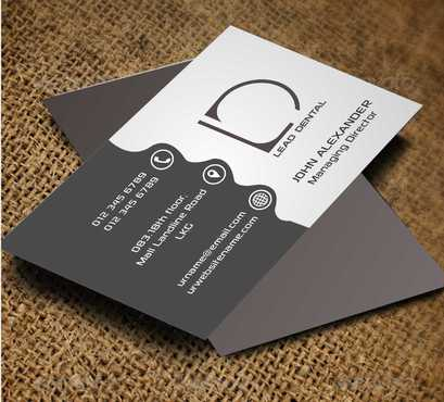 Lead Dental Business Cards and Stationery  Draft # 158 by Dawson
