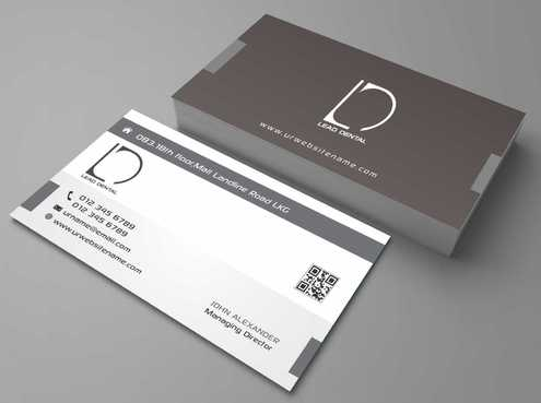 Lead Dental Business Cards and Stationery  Draft # 168 by Dawson