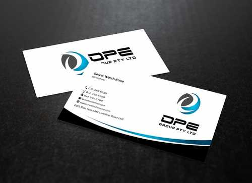 DPE GROUP PL Business Cards and Stationery  Draft # 222 by Dawson