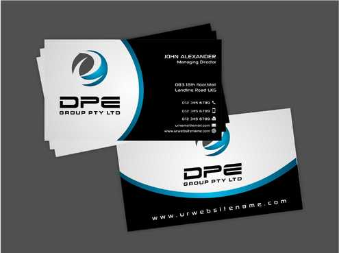 DPE GROUP PL Business Cards and Stationery  Draft # 227 by Dawson