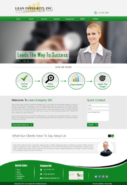 Website for a Lean company Complete Web Design Solution  Draft # 52 by xclusivedesigns