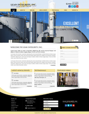 Website for a Lean company Complete Web Design Solution  Draft # 59 by mycrodesigns