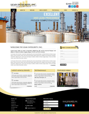 Website for a Lean company Complete Web Design Solution  Draft # 60 by mycrodesigns