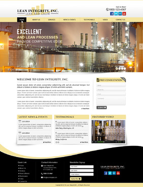 Website for a Lean company Complete Web Design Solution  Draft # 62 by mycrodesigns