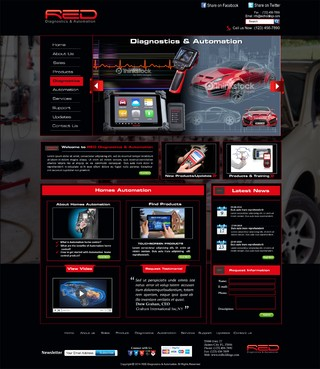 Red Diagnostics & Automation  Complete Web Design Solution  Draft # 54 by syukurkurnia