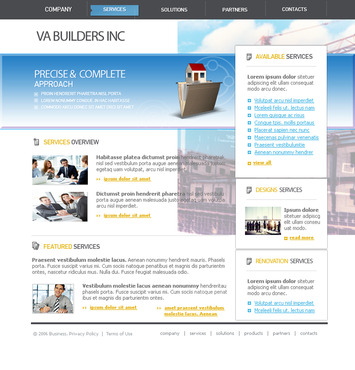 VA Builders, Inc. Complete Web Design Solution  Draft # 37 by javaethnics
