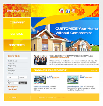 BMW Property, LLC Complete Web Design Solution  Draft # 38 by javaethnics