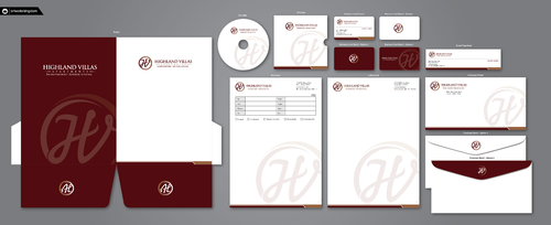 Highland Villas Apartments and Highland Villas Apartments - Independent Senior Living  Business Cards and Stationery Winning Design by ArtworksKingdom