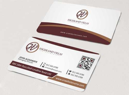 Highland Villas Apartments and Highland Villas Apartments - Independent Senior Living  Business Cards and Stationery  Draft # 166 by Dawson