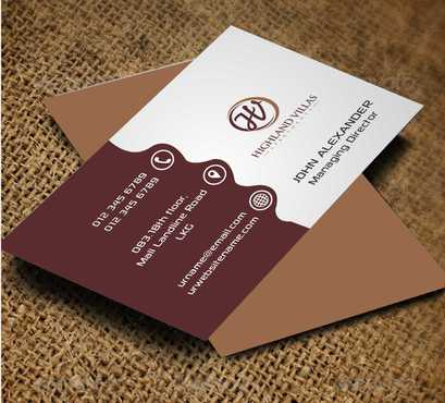 Highland Villas Apartments and Highland Villas Apartments - Independent Senior Living  Business Cards and Stationery  Draft # 168 by Dawson