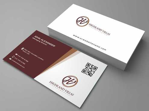 Highland Villas Apartments and Highland Villas Apartments - Independent Senior Living  Business Cards and Stationery  Draft # 186 by Dawson