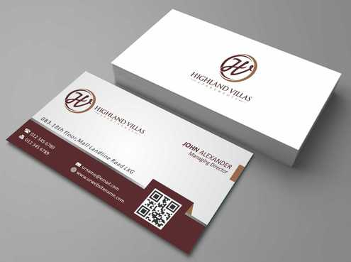 Highland Villas Apartments and Highland Villas Apartments - Independent Senior Living  Business Cards and Stationery  Draft # 187 by Dawson