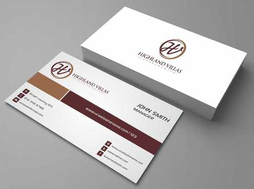 Highland Villas Apartments and Highland Villas Apartments - Independent Senior Living  Business Cards and Stationery  Draft # 190 by Dawson
