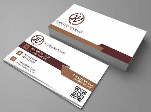 Highland Villas Apartments and Highland Villas Apartments - Independent Senior Living  Business Cards and Stationery  Draft # 196 by Dawson