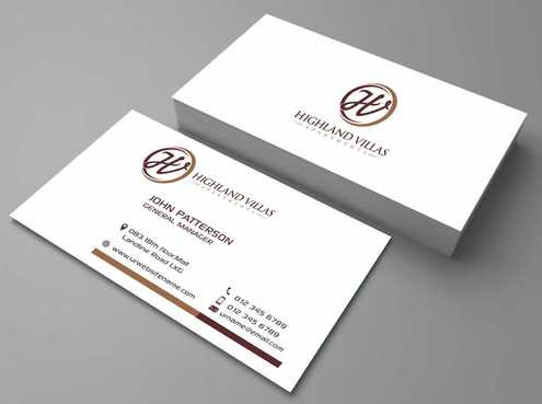 Highland Villas Apartments and Highland Villas Apartments - Independent Senior Living  Business Cards and Stationery  Draft # 197 by Dawson