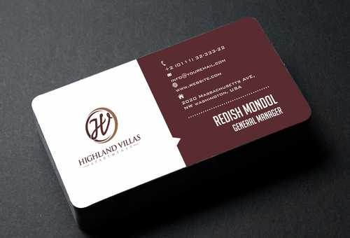Highland Villas Apartments and Highland Villas Apartments - Independent Senior Living  Business Cards and Stationery  Draft # 199 by Dawson