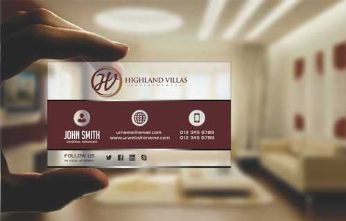 Highland Villas Apartments and Highland Villas Apartments - Independent Senior Living  Business Cards and Stationery  Draft # 200 by Dawson