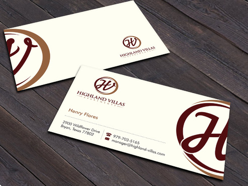 Highland Villas Apartments and Highland Villas Apartments - Independent Senior Living  Business Cards and Stationery  Draft # 258 by Xpert