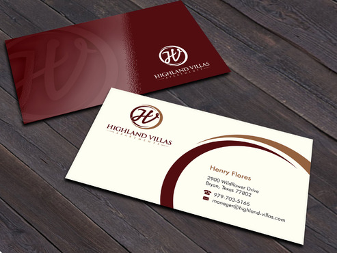 Highland Villas Apartments and Highland Villas Apartments - Independent Senior Living  Business Cards and Stationery  Draft # 260 by Xpert