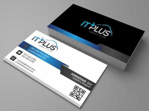 IT PLUS Business Cards and Stationery  Draft # 183 by Dawson