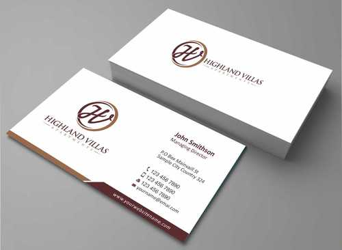 Highland Villas Apartments and Highland Villas Apartments - Independent Senior Living  Business Cards and Stationery  Draft # 261 by Dawson