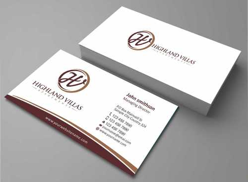 Highland Villas Apartments and Highland Villas Apartments - Independent Senior Living  Business Cards and Stationery  Draft # 262 by Dawson