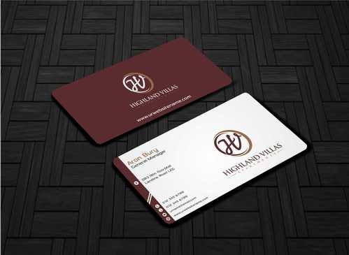 Highland Villas Apartments and Highland Villas Apartments - Independent Senior Living  Business Cards and Stationery  Draft # 267 by Dawson