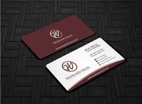 Highland Villas Apartments and Highland Villas Apartments - Independent Senior Living  Business Cards and Stationery  Draft # 268 by Dawson