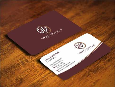 Highland Villas Apartments and Highland Villas Apartments - Independent Senior Living  Business Cards and Stationery  Draft # 269 by Dawson