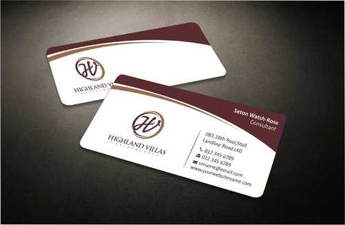 Highland Villas Apartments and Highland Villas Apartments - Independent Senior Living  Business Cards and Stationery  Draft # 270 by Dawson