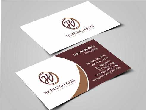Highland Villas Apartments and Highland Villas Apartments - Independent Senior Living  Business Cards and Stationery  Draft # 276 by Dawson