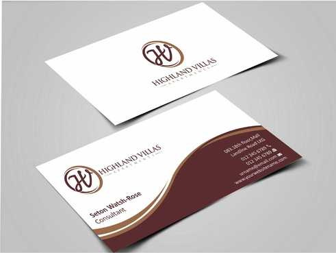 Highland Villas Apartments and Highland Villas Apartments - Independent Senior Living  Business Cards and Stationery  Draft # 277 by Dawson