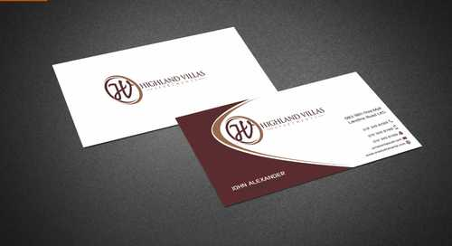 Highland Villas Apartments and Highland Villas Apartments - Independent Senior Living  Business Cards and Stationery  Draft # 283 by Dawson