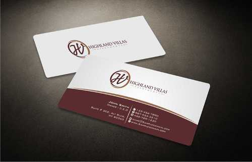 Highland Villas Apartments and Highland Villas Apartments - Independent Senior Living  Business Cards and Stationery  Draft # 290 by Dawson
