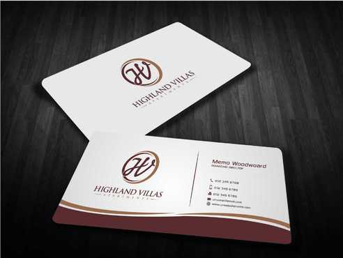 Highland Villas Apartments and Highland Villas Apartments - Independent Senior Living  Business Cards and Stationery  Draft # 297 by Dawson