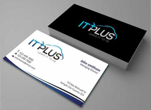 IT PLUS Business Cards and Stationery  Draft # 187 by Dawson