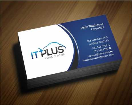 IT PLUS Business Cards and Stationery  Draft # 197 by Dawson
