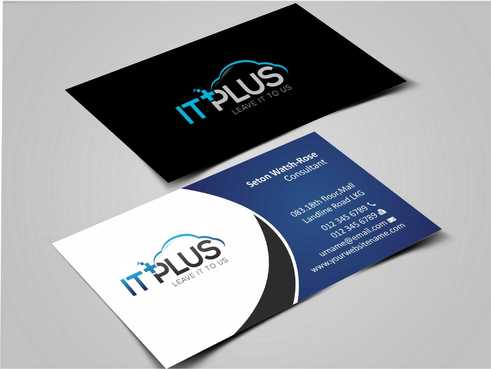 IT PLUS Business Cards and Stationery  Draft # 198 by Dawson