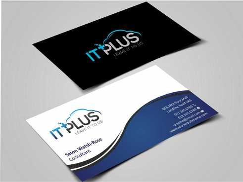 IT PLUS Business Cards and Stationery  Draft # 199 by Dawson