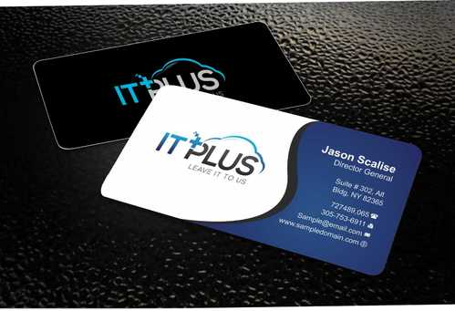 IT PLUS Business Cards and Stationery  Draft # 203 by Dawson