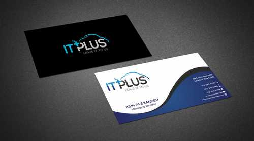 IT PLUS Business Cards and Stationery  Draft # 204 by Dawson
