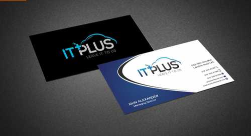 IT PLUS Business Cards and Stationery  Draft # 205 by Dawson